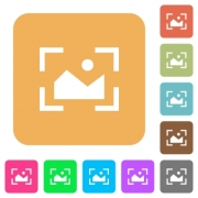 Camera landscape mode flat icons on rounded square vivid color backgrounds. - Camera landscape mode rounded square flat icons