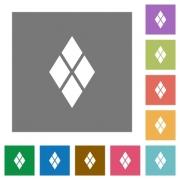 Diamond tile pattern flat icons on simple color square backgrounds - Diamond tile pattern square flat icons