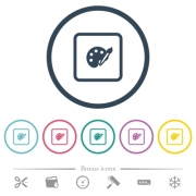 Adjust object color flat color icons in round outlines. 6 bonus icons included. - Adjust object color flat color icons in round outlines