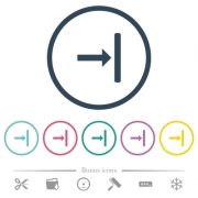 Align to right flat color icons in round outlines. 6 bonus icons included. - Align to right flat color icons in round outlines