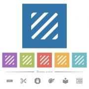 Texture flat white icons in square backgrounds. 6 bonus icons included. - Texture flat white icons in square backgrounds