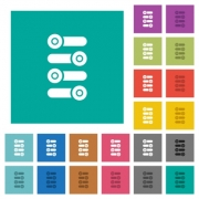 Fine tune multi colored flat icons on plain square backgrounds. Included white and darker icon variations for hover or active effects. - Fine tune square flat multi colored icons