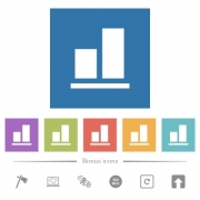 Align to bottom flat white icons in square backgrounds. 6 bonus icons included. - Align to bottom flat white icons in square backgrounds - Large thumbnail