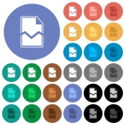 Broken page multi colored flat icons on round backgrounds. Included white, light and dark icon variations for hover and active status effects, and bonus shades. - Broken page round flat multi colored icons