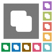 Add shapes flat icons on simple color square backgrounds - Add shapes square flat icons