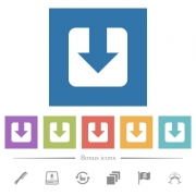 Download flat white icons in square backgrounds. 6 bonus icons included. - Download flat white icons in square backgrounds