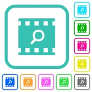 Find movie vivid colored flat icons in curved borders on white background - Find movie vivid colored flat icons - Large thumbnail