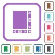 Blank document with scroll bars simple icons in color rounded square frames on white background - Blank document with scroll bars simple icons - Large thumbnail