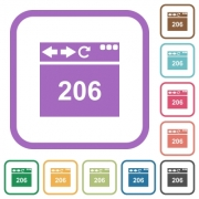 Browser 206 Partial Content simple icons in color rounded square frames on white background - Browser 206 Partial Content simple icons - Large thumbnail