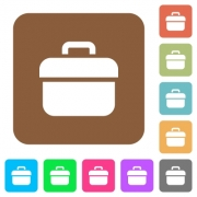 Toolbox flat icons on rounded square vivid color backgrounds. - Toolbox rounded square flat icons