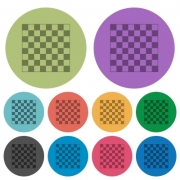 Chess board darker flat icons on color round background - Chess board color darker flat icons