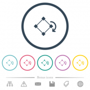 Rotate element flat color icons in round outlines. 6 bonus icons included. - Rotate element flat color icons in round outlines - Large thumbnail