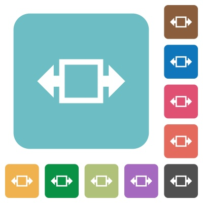 Flat width tool icons on rounded square color backgrounds. - Free image