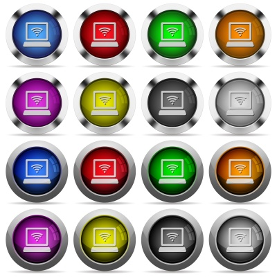 Set of hotspot glossy web buttons. Arranged layer structure. - Free image