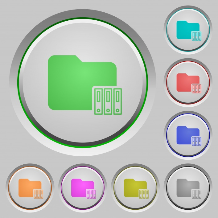 Organize folder color icons on sunk push buttons - Free image