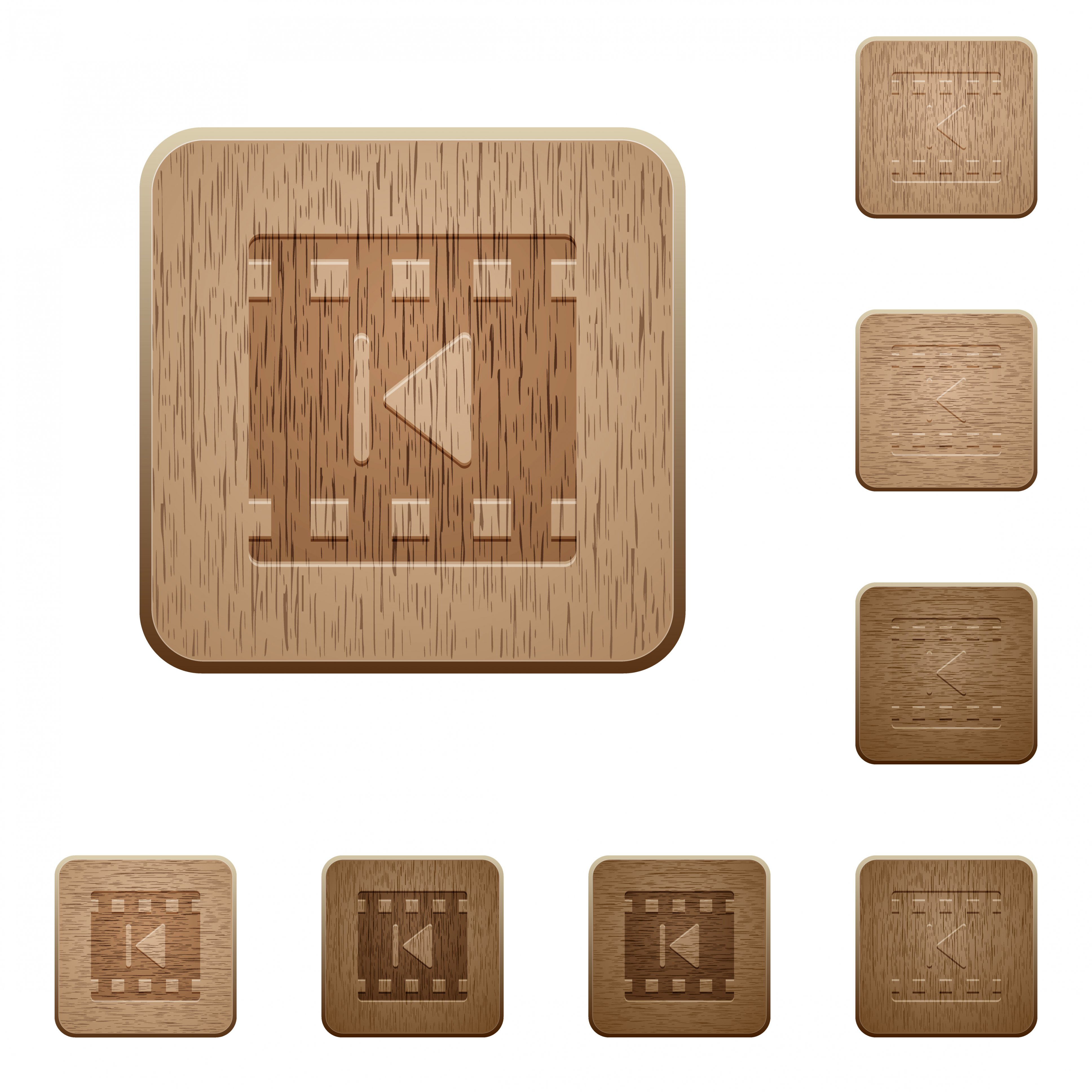 Previous movie on rounded square carved wooden button styles - Free image
