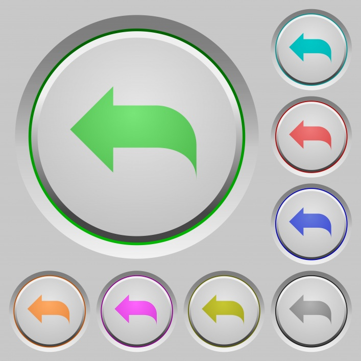 Reply to mail color icons on sunk push buttons - Free image