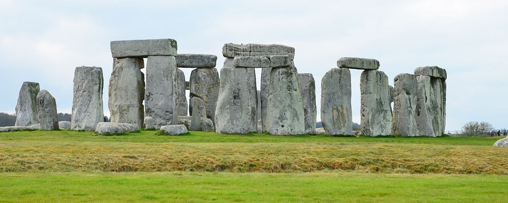 The rocks of Stonehenge in England.