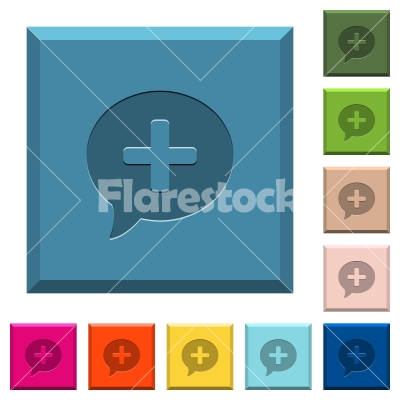 Add comment engraved icons on edged square buttons - Add comment engraved icons on edged square buttons in various trendy colors