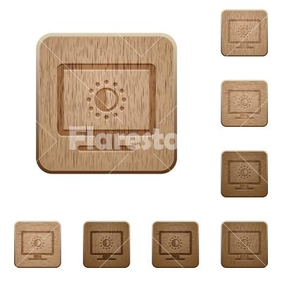 Adjust screen saturation wooden buttons - Adjust screen saturation on rounded square carved wooden button styles