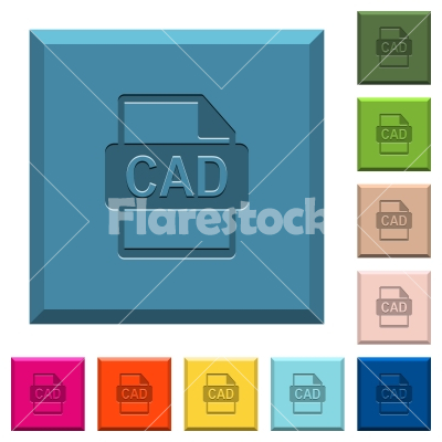 CAD file format engraved icons on edged square buttons - CAD file format engraved icons on edged square buttons in various trendy colors
