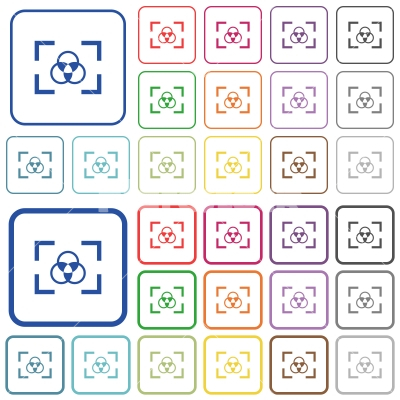 Camera white balance setting outlined flat color icons - Stock ...