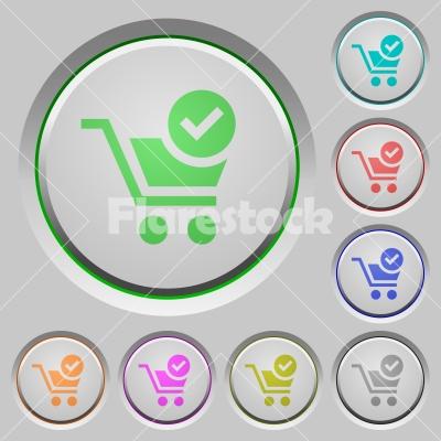 Checkout push buttons - Set of color Checkout sunk push buttons.