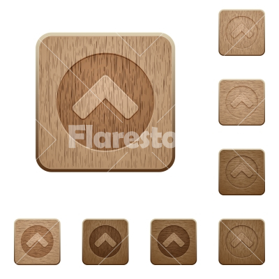 Chevron up wooden buttons - Chevron up on rounded square carved wooden button styles