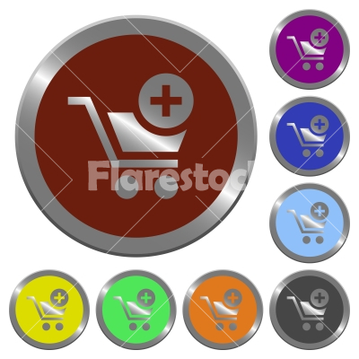 Color add to cart buttons - Set of color glossy coin-like add to cart buttons.