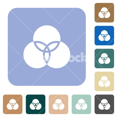 Color filter rounded square flat icons - Color filter white flat icons on color rounded square backgrounds
