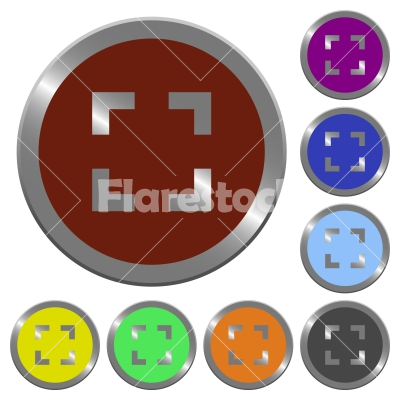 Color selector tool buttons - Set of color glossy coin-like selector tool buttons.