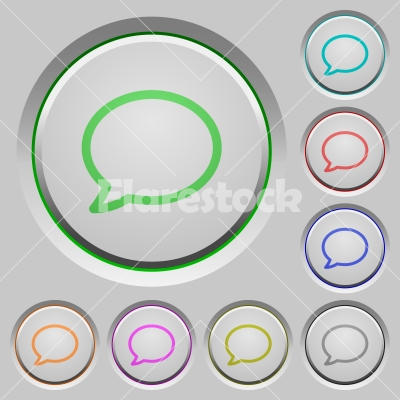 Comment push buttons - Set of color comment sunk push buttons.