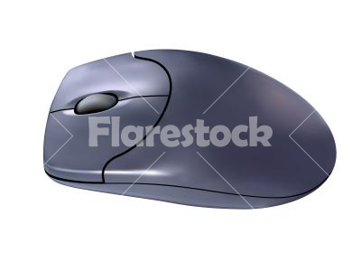 Computer mouse - Vector graphic of a grey computer mouse