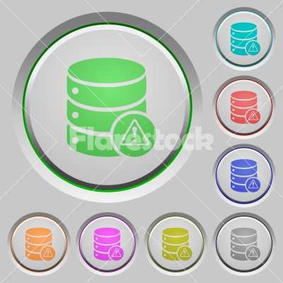 Database error push buttons - Database error color icons on sunk push buttons