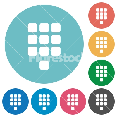 Dial pad flat round icons - Stock vector - Flarestock