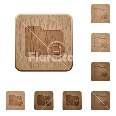 Directory properties wooden buttons - Directory properties on rounded square carved wooden button styles