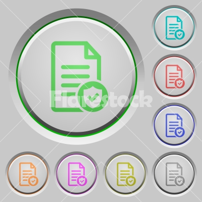 Document protected push buttons - Document protected color icons on sunk push buttons