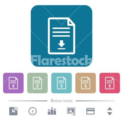 Download document flat icons on color rounded square backgrounds - Download document white flat icons on color rounded square backgrounds. 6 bonus icons included