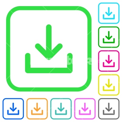 Download symbol vivid colored flat icons - Download symbol vivid colored flat icons in curved borders on white background