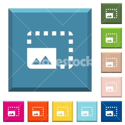 Enlarge photo white icons on edged square buttons - Enlarge photo white icons on edged square buttons in various trendy colors