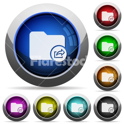 Export directory round glossy buttons - Export directory icons in round glossy buttons with steel frames