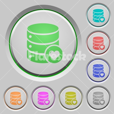 Favorite database push buttons - Favorite database color icons on sunk push buttons