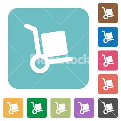 Flat parcel delivery icons - Flat parcel delivery icons on rounded square color backgrounds. - Free stock vector