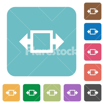 Flat width tool icons - Flat width tool icons on rounded square color backgrounds. - Free stock vector