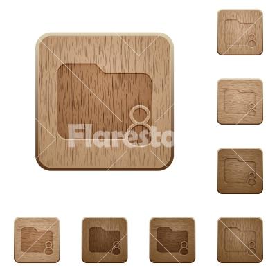 Folder owner wooden buttons - Set of carved wooden Folder owner buttons in 8 variations.
