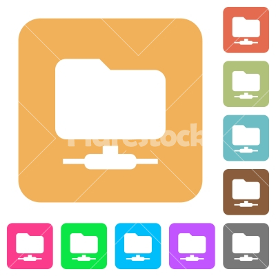 FTP rounded square flat icons - FTP flat icons on rounded square vivid color backgrounds.