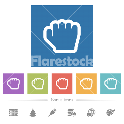 Grab cursor flat white icons in square backgrounds - Grab cursor flat white icons in square backgrounds. 6 bonus icons included.