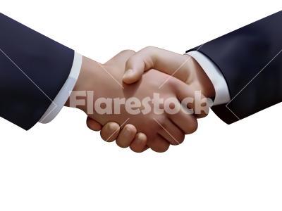 Handshake vector - Vector graphic of the handshake of two businessmen