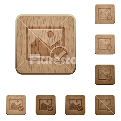 Image ok wooden buttons - Image ok on rounded square carved wooden button styles