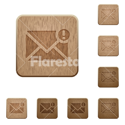 Important message wooden buttons - Set of carved wooden important message buttons in 8 variations. - Free stock vector